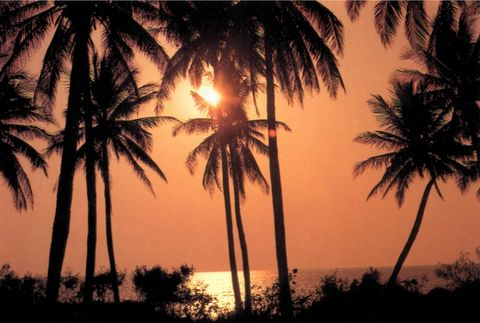 о. Хайнань, Закат на пляже